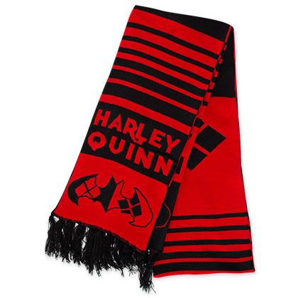 Harley Quinn Red And Black Scarf