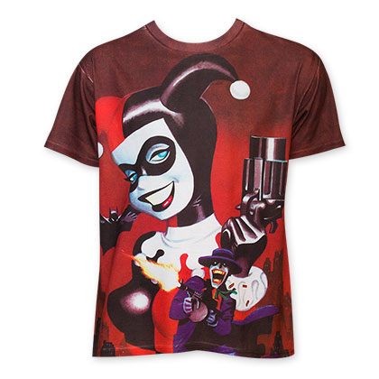 Harley Quinn Sublimated Pistol Tee Shirt
