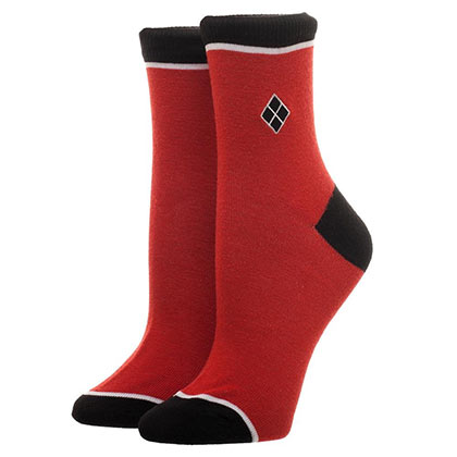 Harley Quinn Embroidered Juniors Socks