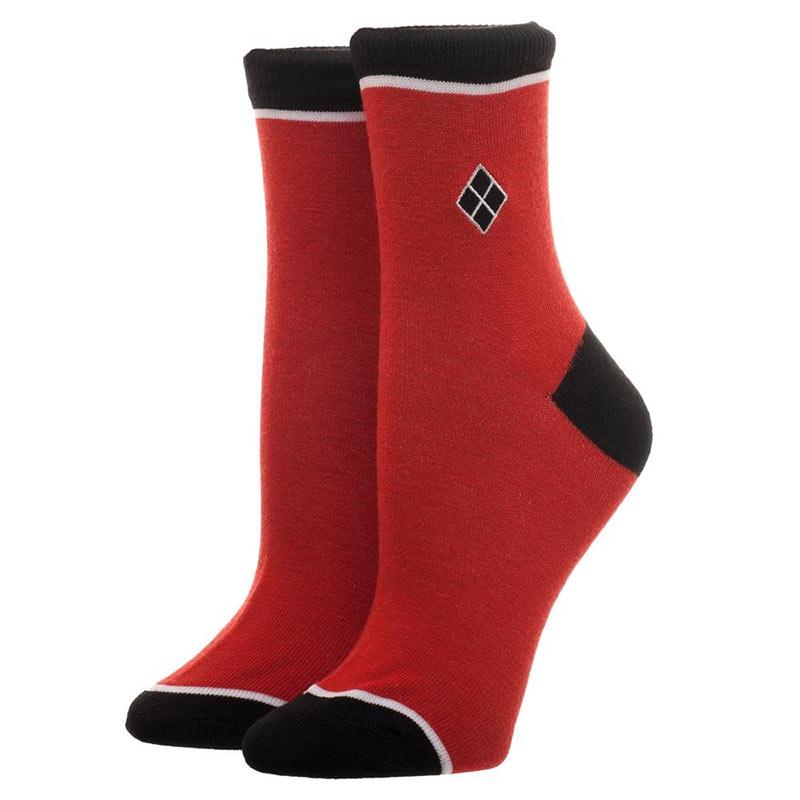 Harley Quinn Embroidered Juniors Womens Socks