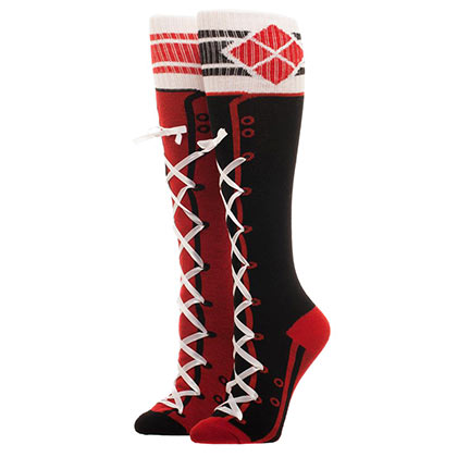 Harley Quinn Women's Knee High Sporty Lace Up Socks