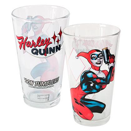 Harley Quinn Toon Tumbler Glass