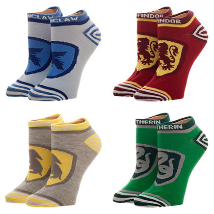 Harry Potter 4-Pack Women's House insignia Ankle Socks