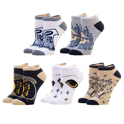 Harry Potter 5 Pack Hogwarts Ankle Socks