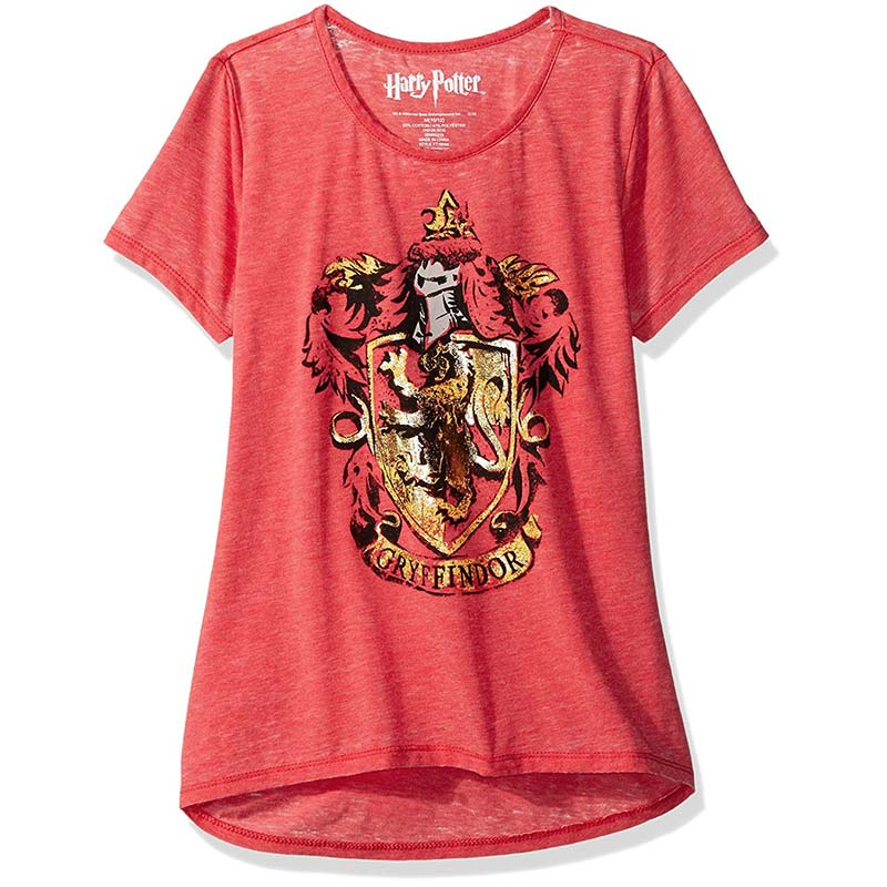 Harry Potter Gryffindor Crest Youth Girls 7-16 Red T-Shirt