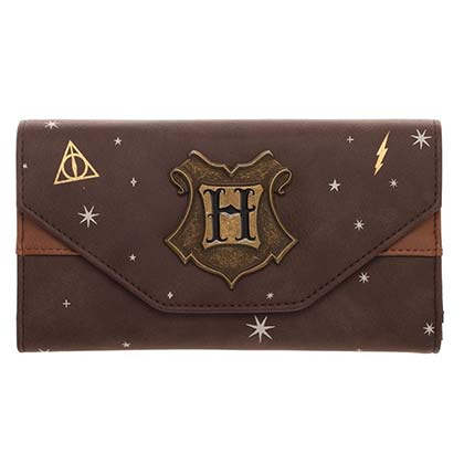 Harry Potter Celestial Flap Brown Faux Leather Wallet