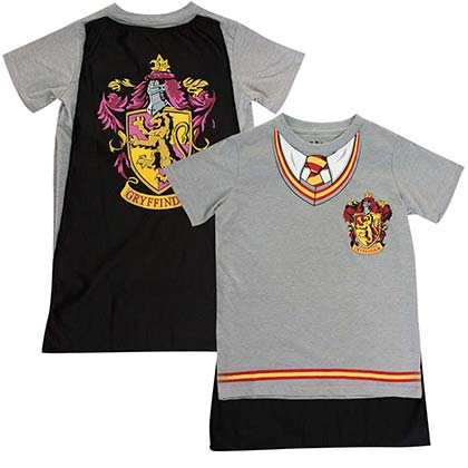 Harry Potter Boys Grey Gryffindor Caped Costume T-Shirt