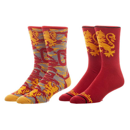Harry Potter Gryffindor Men's Crew Sock 2-Pack