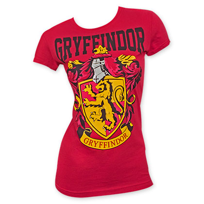Harry Potter Women's Red Gryffindor Logo Tee Shirt