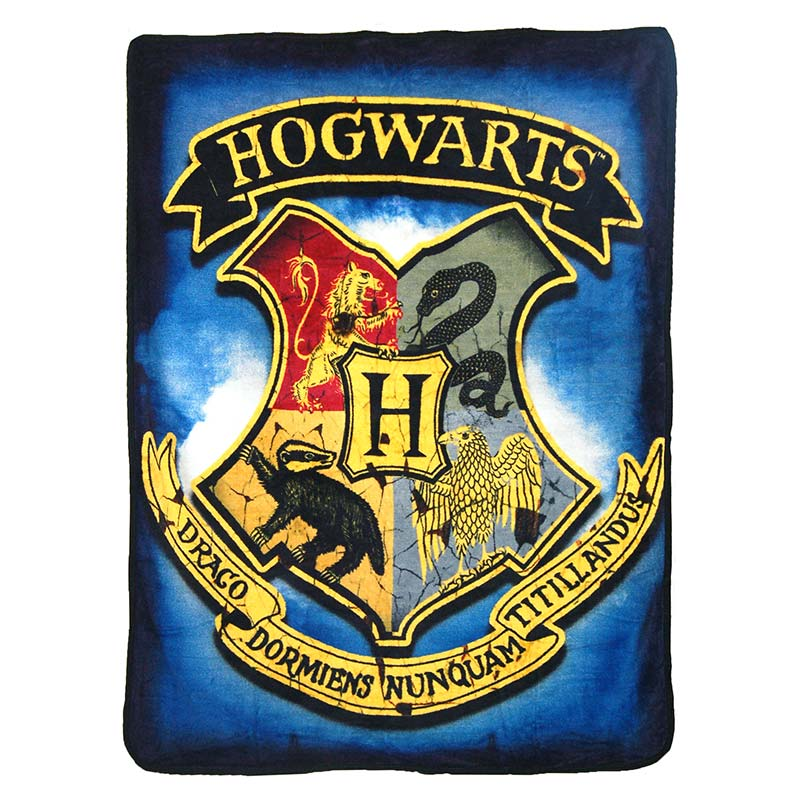 Harry Potter Hogwarts Crest 40x60 Fleece Throw Blanket
