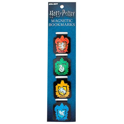 Harry Potter School Crests Magnetic Bookmarks Set Of 4