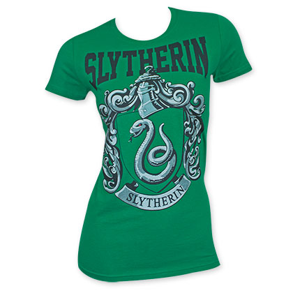 Harry Potter Women's Green Slytherin Tee Shirt