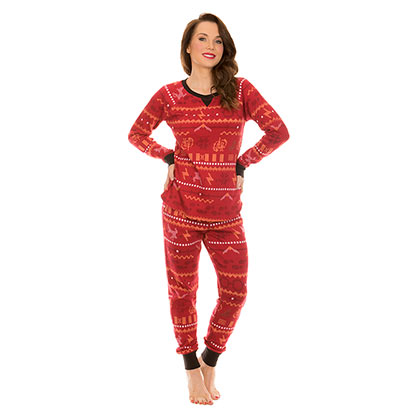 Harry Potter Long Sleeve Thermal Women's Red Pajama Set