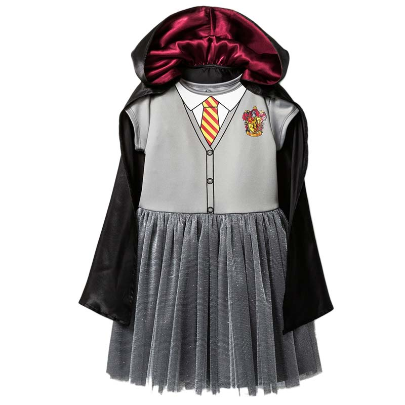 Harry Potter Hogwarts Girls Youth Gray Costume Dress Cloak