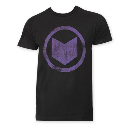 Hawkeye Men's Black Distressed Icon T-Shirt