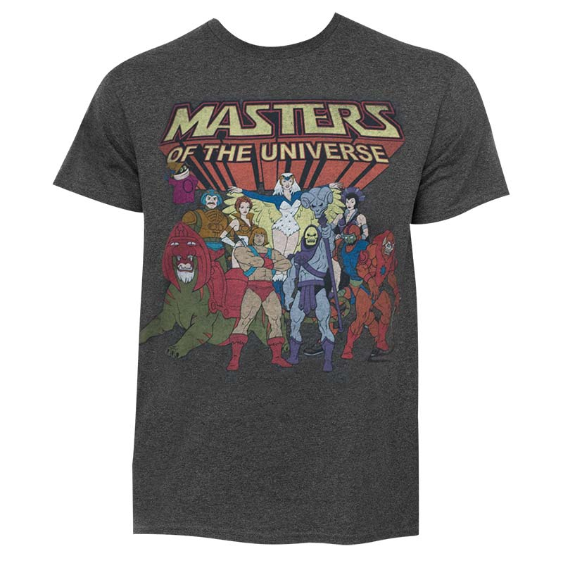 He-Man Masters Of The Universe Men's Dark Grey Characters T-Shirt