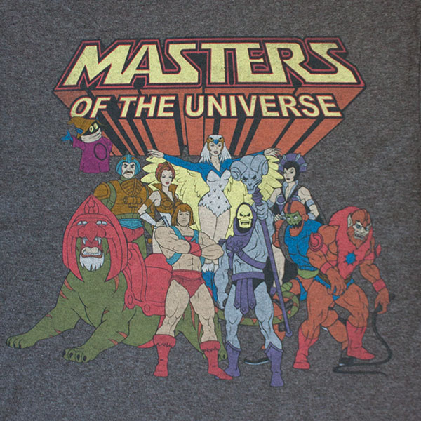 Masters Of The Universe Charcoal Grey He-Man And Co. T-Shirt