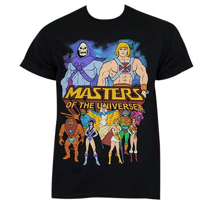 He-Man Masters Of The Universe Men's Black Logo T-Shirt