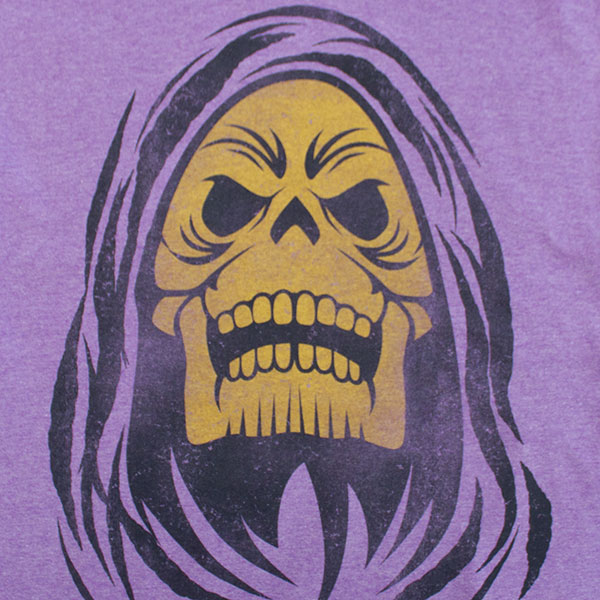He-Man Purple Men's Skeletor Tee Shirt