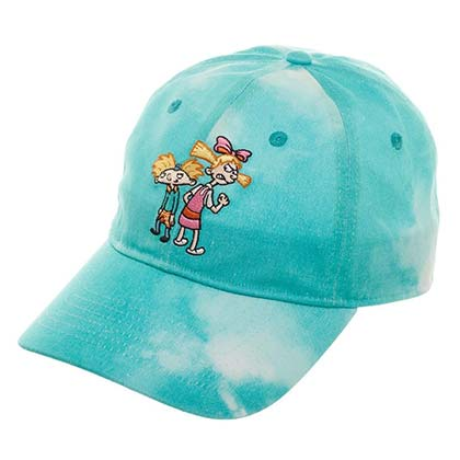 Hey Arnold Nicktoons Helga Blue Tie Dye Dad Hat