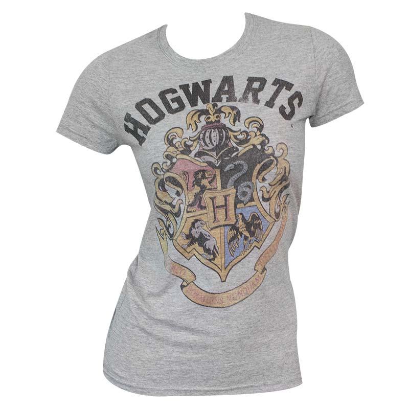 Women's Harry Potter Hogwarts Grey T-Shirt | TVMovieDepot.com