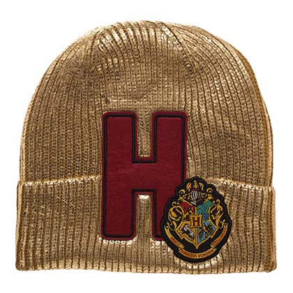 Harry Potter Gold Hogwarts Winter Beanie
