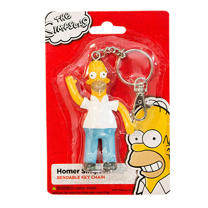 The Simpsons Homer Bendable Keychain