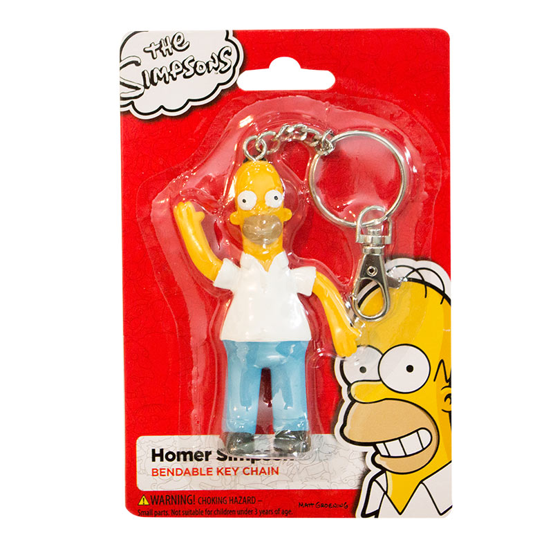 The Simpsons Homer Figurine Keychain