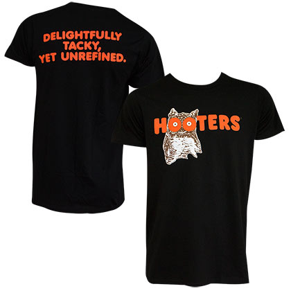 Hooters Logo Black Tee Shirt