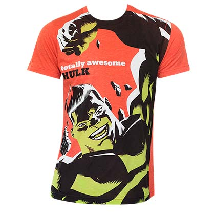 Men's Cotton Blend Hulk Michael Cho Orange Tee Shirt