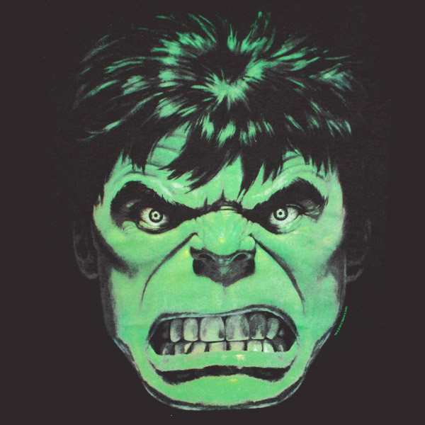 The Incredible Hulk Angry Face Black Graphic Tee Shirt