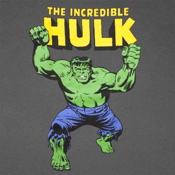 The Incredible Hulk Classic Design Gray Graphic T Shirt