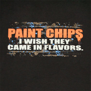 Paint Chips Flavors Novelty Black Graphic T Shirt