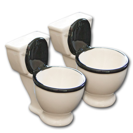 Toilet Bowl Funny Shot Glasses