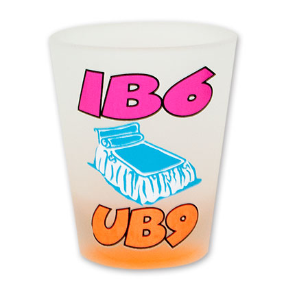 IB6 UB9 Neon Frosted Shot Glass