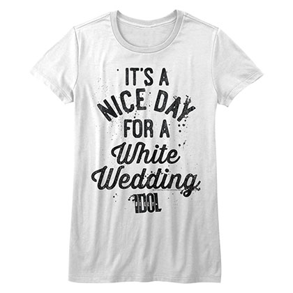 Billy Idol Nice Day  Womens White  T-Shirt