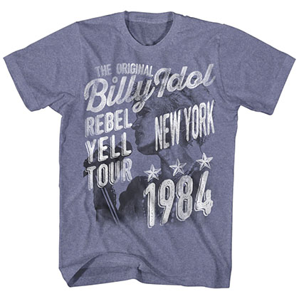 Billy Idol The Original Mens Blue T-Shirt
