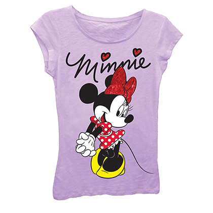 Disney Minnie Mouse Girls 7-16 Purple Signature T-Shirt