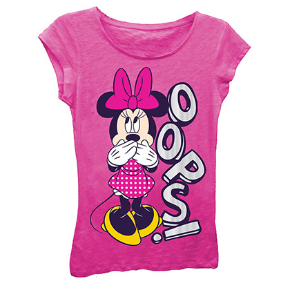 Disney Minnie Mouse Oops Girls 7-16 T-Shirt