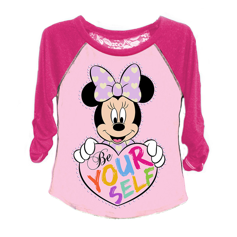 Disney Minnie Mouse Girls 7-16 Be Yourself Long Sleeve Tee Shirt