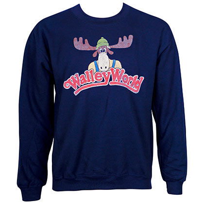 Wally World Crew Neck Navy Blue Sweatshirt