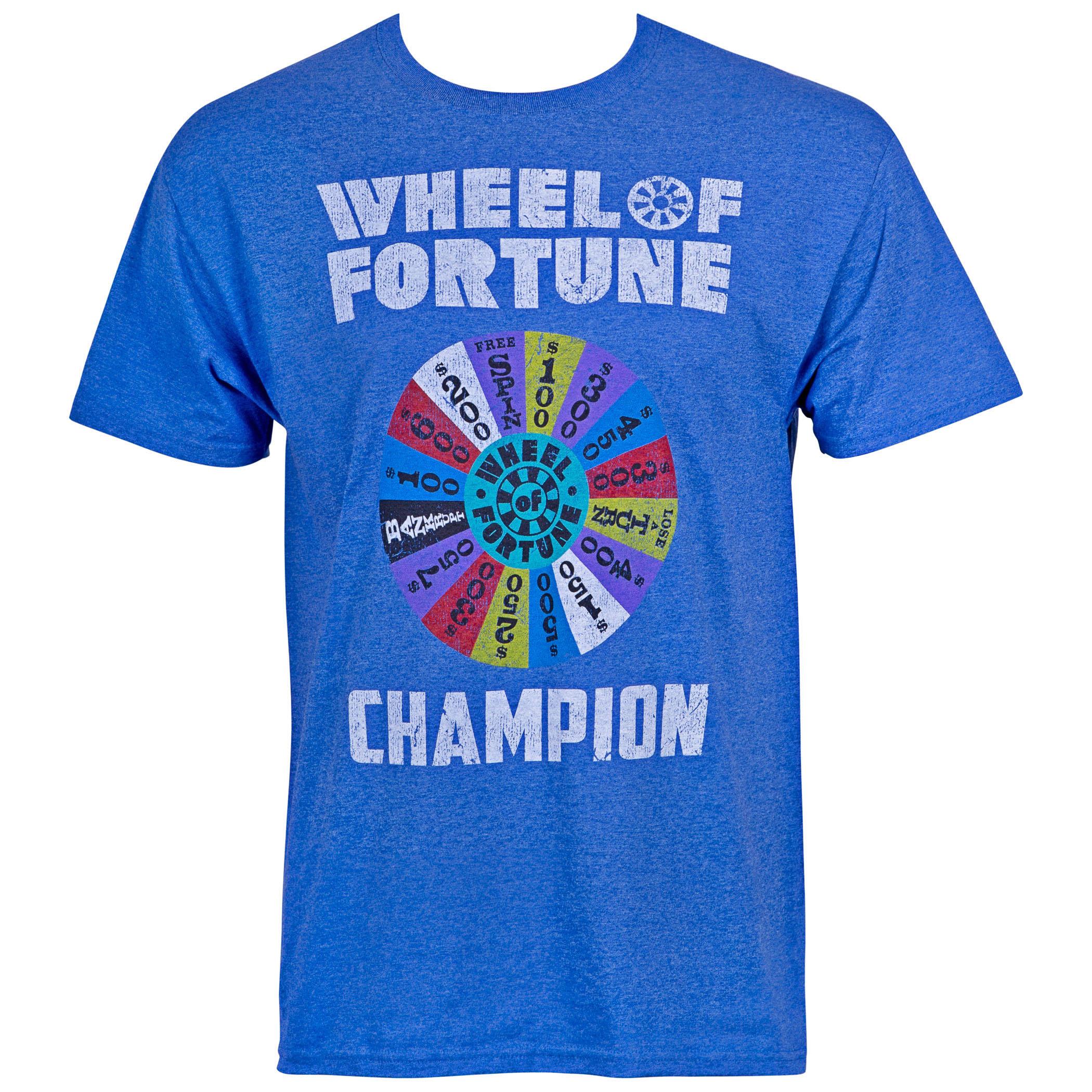 Wheel Of Fortune Men's Blue Tee Shirt