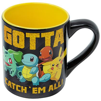 Pokemon Black And Yellow 14 Ounce Gotta Catch Them All Mug