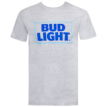 Bud Light Box Logo Grey Tshirt
