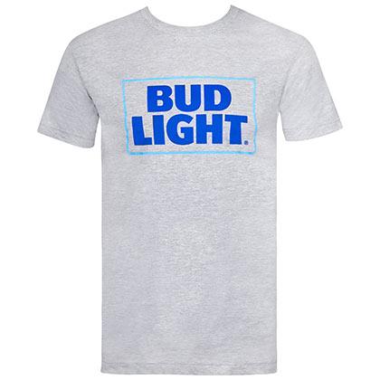 Bud Light Classic Logo Grey Tshirt