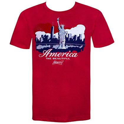 Budweiser Statue of Liberty America Tshirt