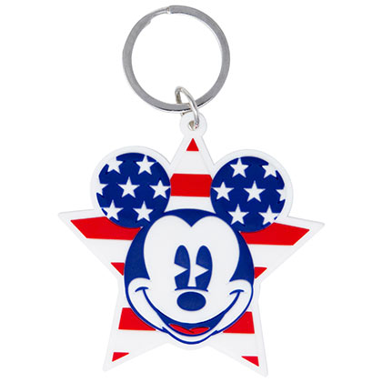 Mickey Mouse Stars And Stripes Keychain