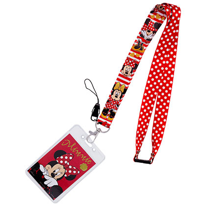 Minnie Mouse Red Polka Dot Lanyard