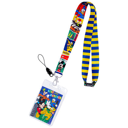 Mickey And The Gang Disney Striped Lanyard