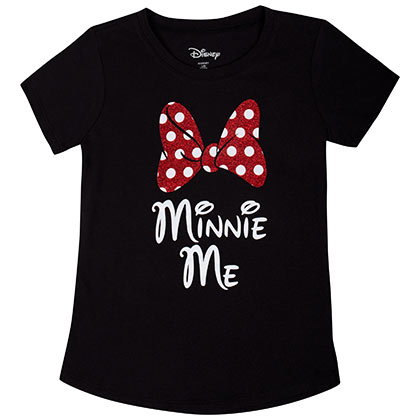 Minnie Mouse Minnie Me Youth Black Tee Shirt